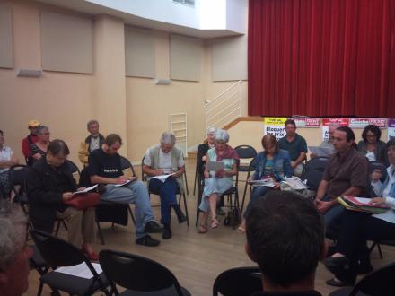 Réunion publique du Front de gauche Le Vigenal 2011