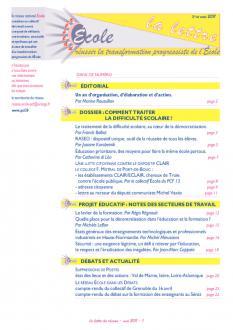 Ecole : la lettre, mai 2011