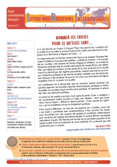 Lettre des relations internationales (mai 2011)